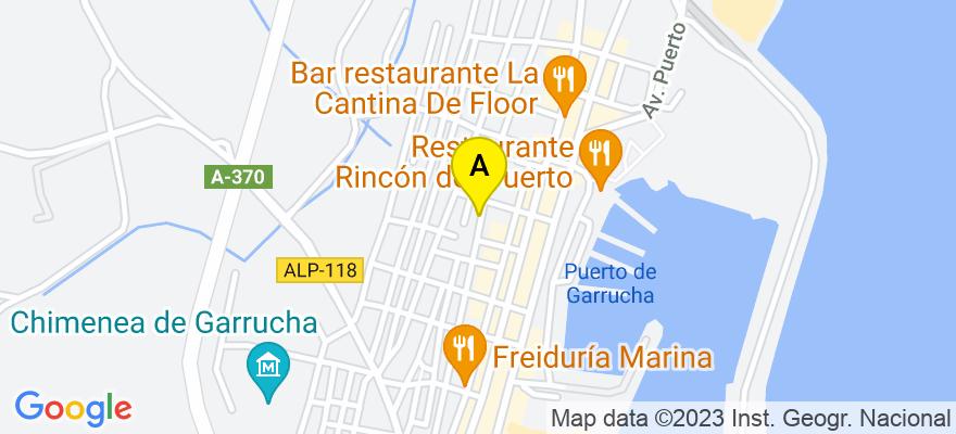 situacion en el mapa de . Direccion: C/ Mayor s/n, Galería Comercial Edificio Europa II, 04630 Garrucha. Almería
