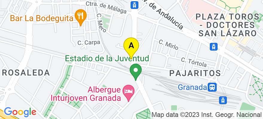 situacion en el mapa de . Direccion: Camino de Ronda 179 Bajo, 18003 Granada. Granada