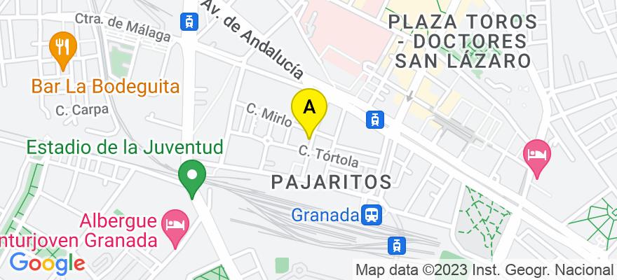 situacion en el mapa de . Direccion: C/ FAISAN Nº 10 4º A, 18014 Granada. Granada