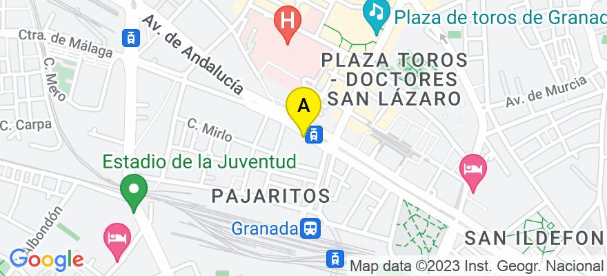 situacion en el mapa de . Direccion: Av de la Consitución 33-35 portal 4 Piso 4-B, 18014 Granada. Granada