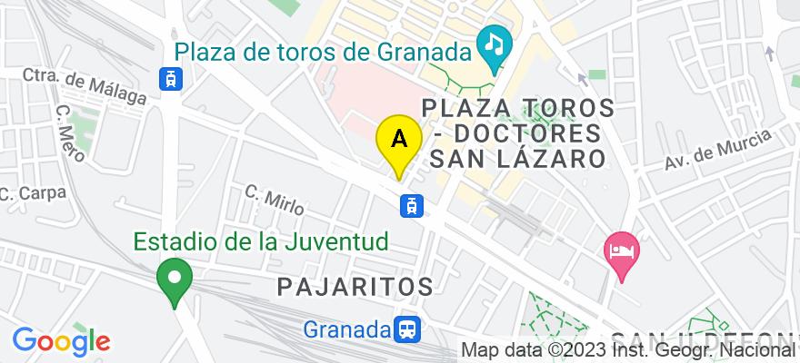 situacion en el mapa de . Direccion: Avd. Constitución, Núm. 48, 5º D., 18012 Granada. Granada