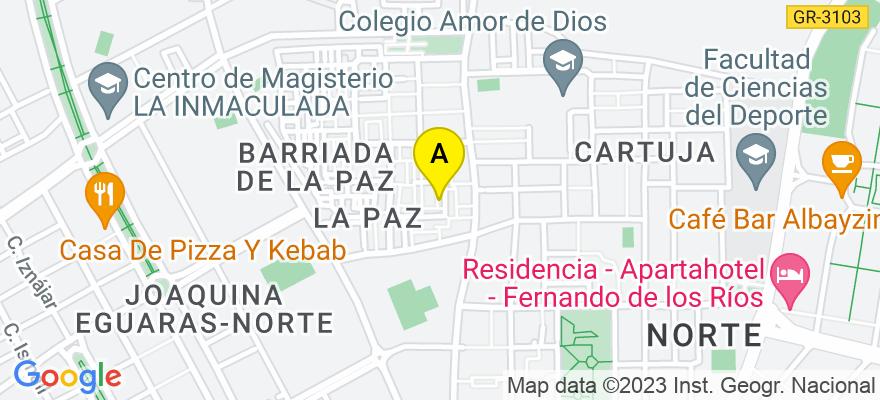 situacion en el mapa de . Direccion: Camino de Ronda 92 IZQ 3C, 18004 Granada. Granada