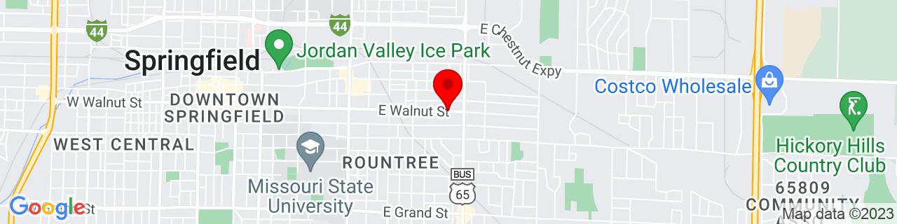 Google Map of 37.2063144, -93.26384999999999