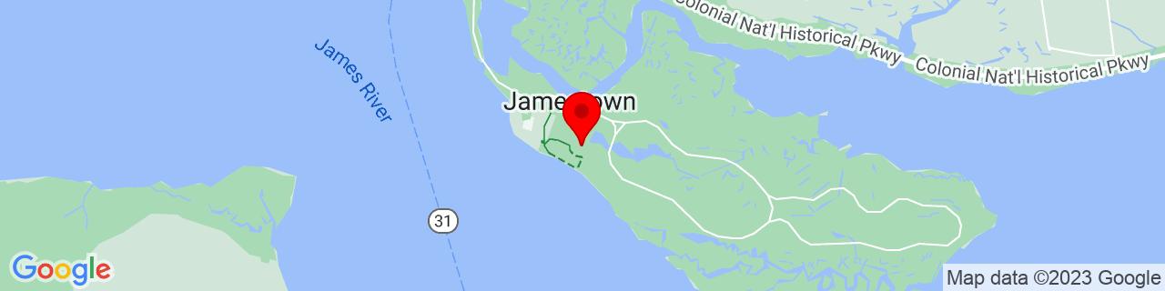 Google Map of 37.2082678, -76.77408969999999