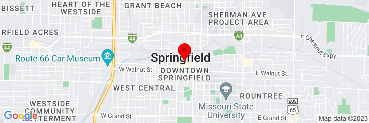 Google Map of 37.208957222222,-93.292298888889