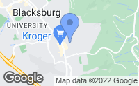 Map of Blacksburg, VA