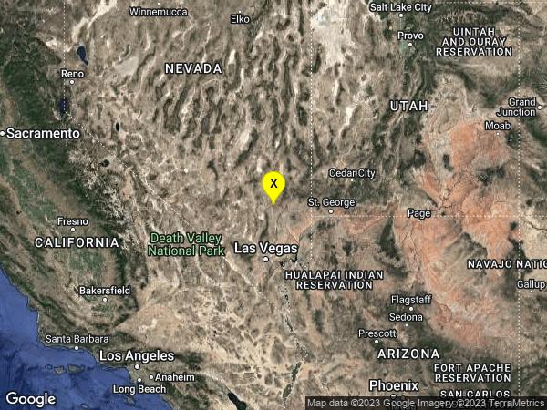 earthquake 24km SE of Alamo, Nevada