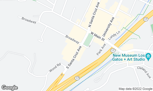 Map of Number One Broadway at 102 S Santa Cruz Ave Ste B Los Gatos, CA