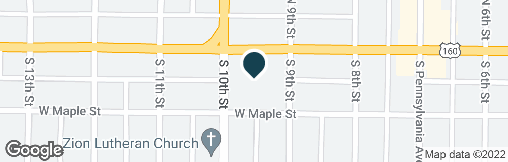 Google Map of301 W MAIN ST