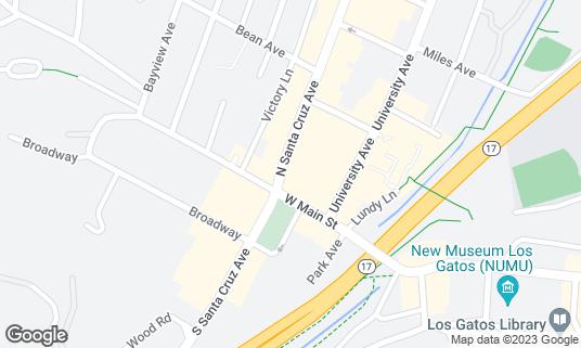Map of Carry Nation's at 8 N Santa Cruz Ave Los Gatos, CA