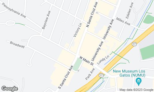 Map of Charley's LG at 15 N Santa Cruz Ave Los Gatos, CA