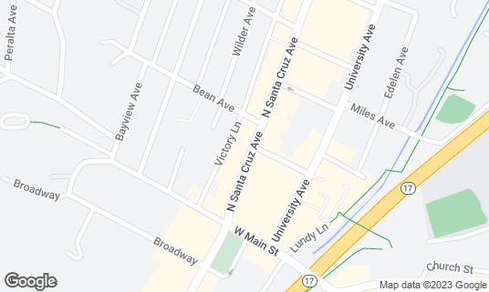 Map of Gardino Fresco at 51 N Santa Cruz Ave Los Gatos, CA