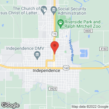 Map of Check `n Go at 532 North Penn Avenue, Independence, KS 67301