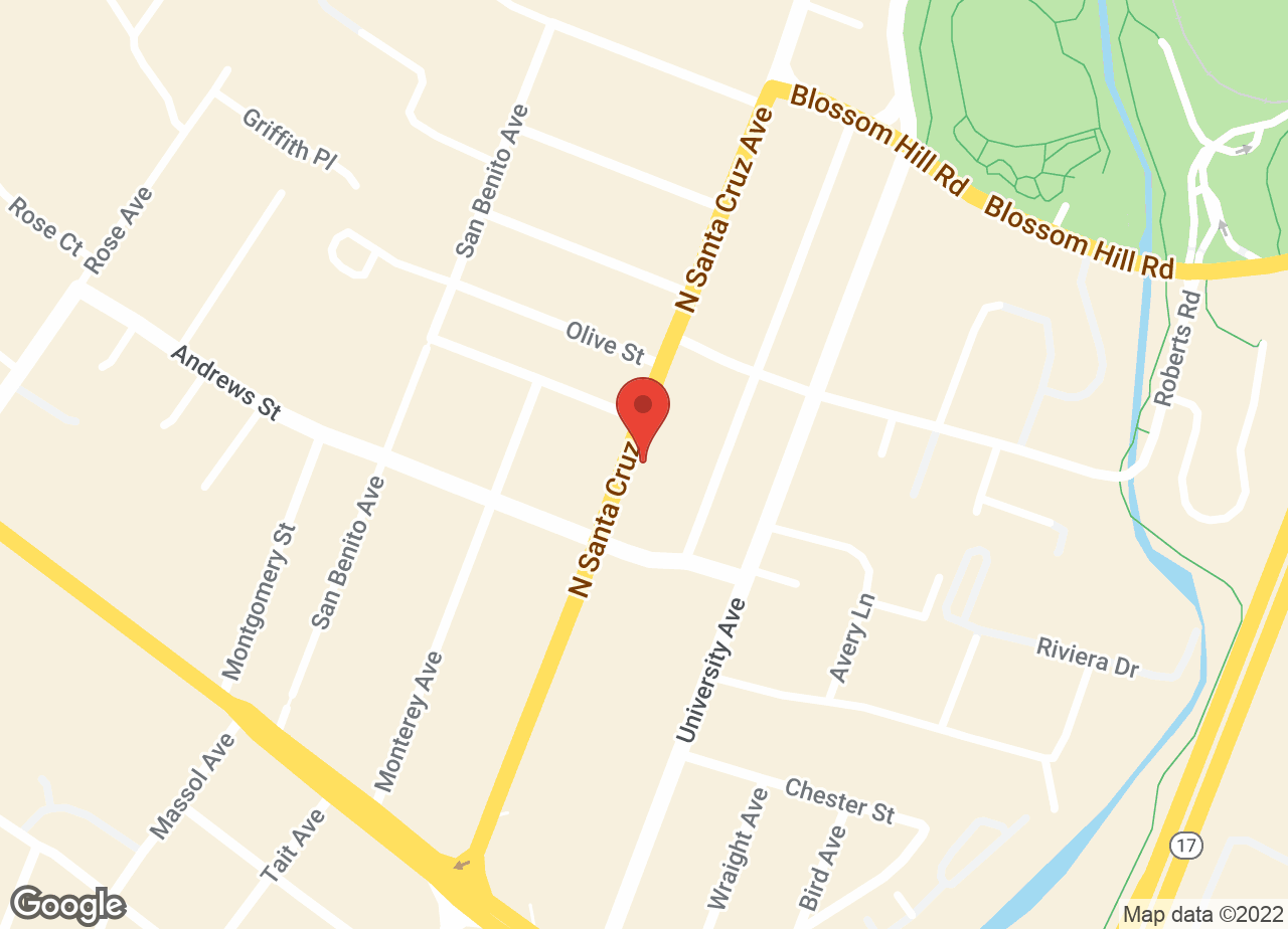 Google Map of VCA Animal Hospital of Los Gatos