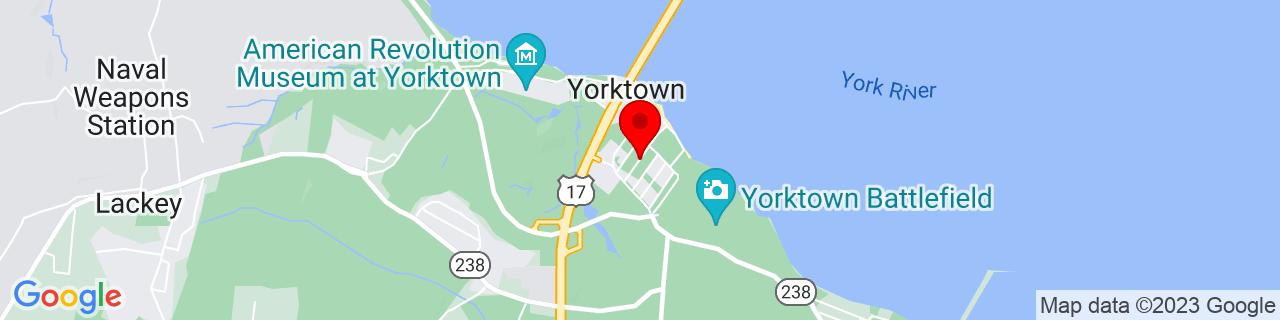 Google Map of 37.2339046, -76.5084655