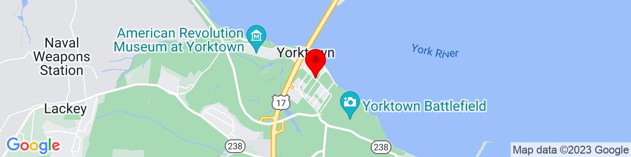 Google Map of 37.2350923, -76.5079563