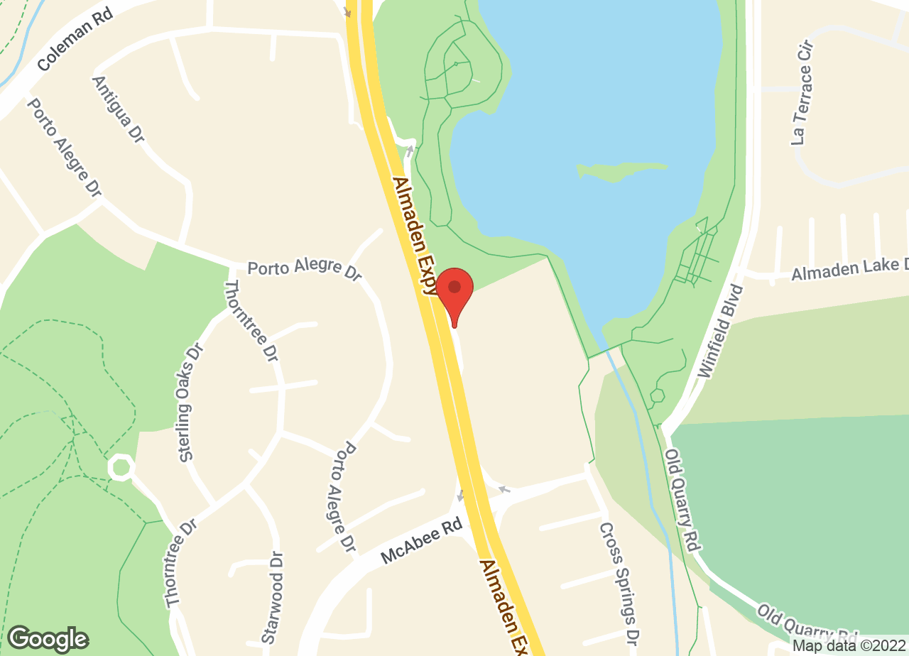 Google Map of VCA Almaden Valley Animal Hospital