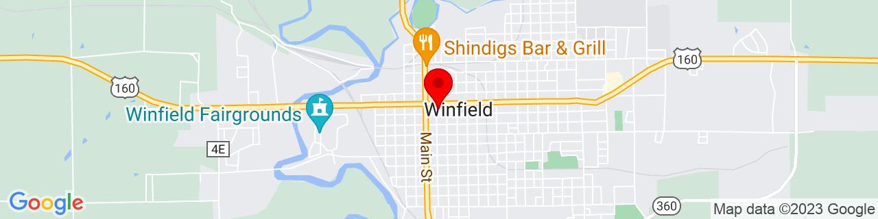 Google Map of 37.2397486, -96.9955919