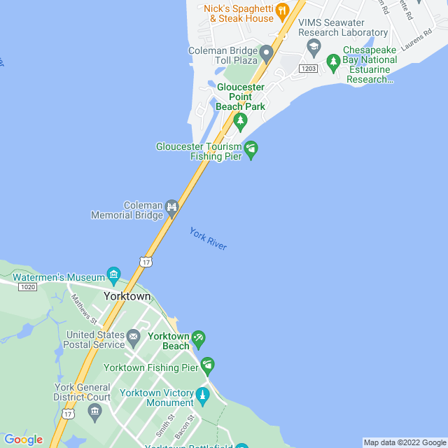 Map of Toll Road | George P Coleman US-17 Bridge