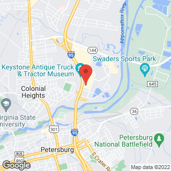 Map of Hair Cuttery at 56 Southgate Square, Colonial Heights, VA 23834