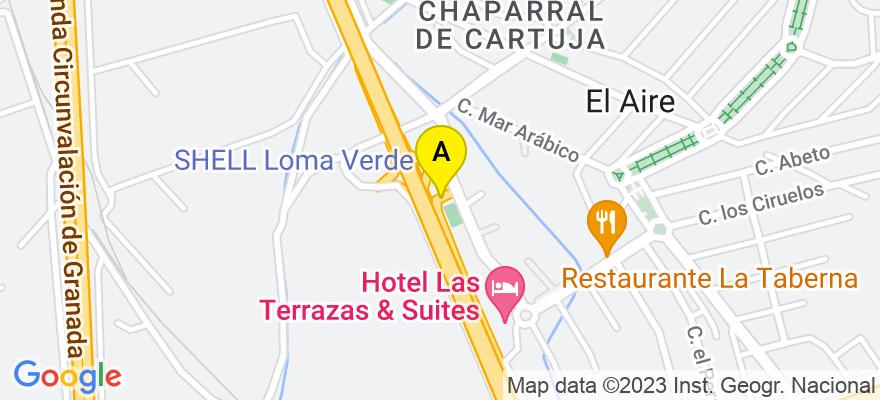 situacion en el mapa de . Direccion: Avenida de las Acacias 2, 18220 Albolote. Granada