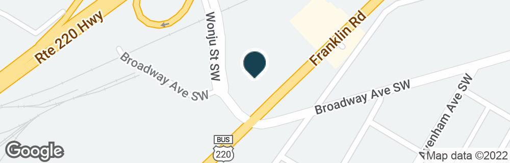 Google Map of2351 FRANKLIN RD SW