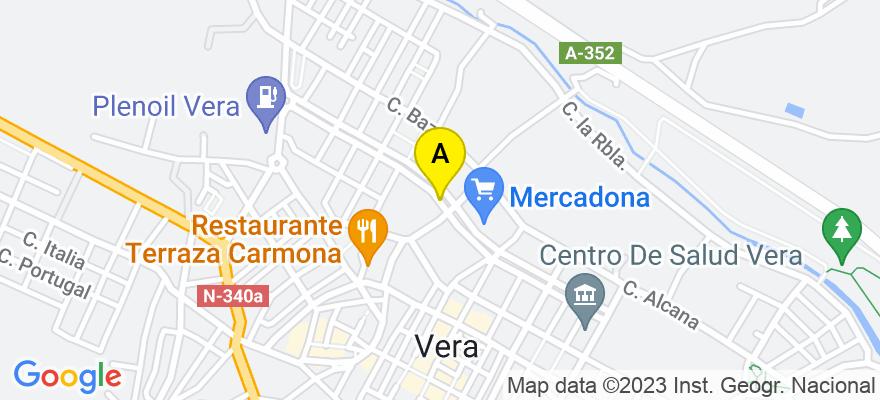 situacion en el mapa de . Direccion: Paseo Miguel de Cervantes s/n, 04620 Vera. Almería