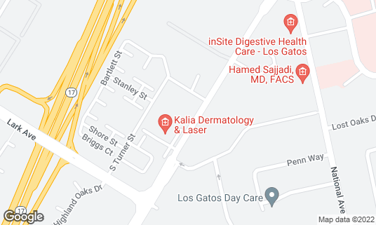 Map of Boulevard Tavern at 15043 Los Gatos Blvd Los Gatos, CA