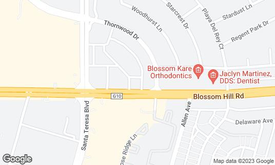 Map of Buffalo Wild Wings at 859 Blossom Hill Rd San Jose, CA