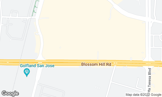 Map of BJ's Restaurant and Brewhouse at 925 Blossom Hill Rd San Jose, CA