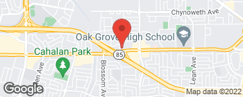 Map of 493 Blossom Hill Rd in San Jose