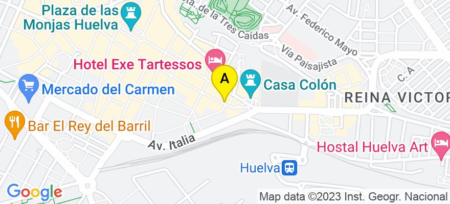 situacion en el mapa de . Direccion: Plaza del Punto nº 1, 1º F, 21003 Huelva. Huelva