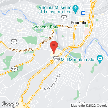 Map of Tuesday Morning at 660 Brandon Ave SW, Roanoke, VA 24015