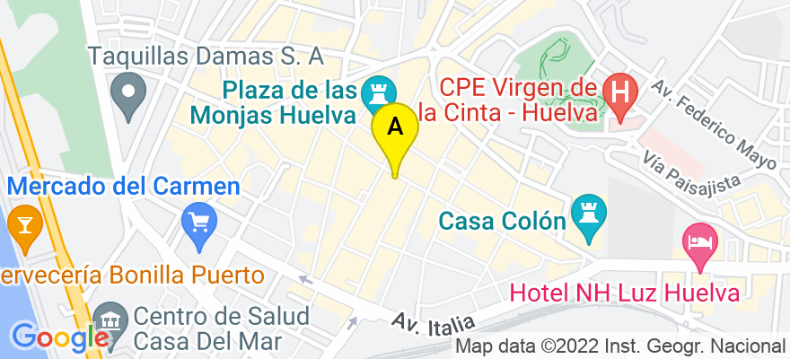 situacion en el mapa de . Direccion: Calle Arquitecto Pérez Carasa numero 2 2º A, 21003 Huelva. Huelva
