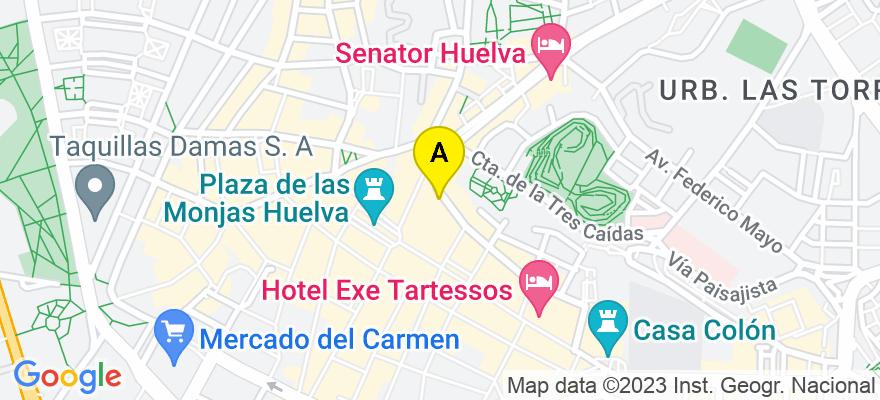 situacion en el mapa de . Direccion: C/ Palos de la Frontera, 10, 1E, 21003 Huelva. Huelva