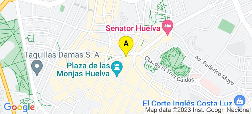 situacion en el mapa de . Direccion: Plaza Quintero Báez nº 10, 5º, 21002 Huelva. Huelva