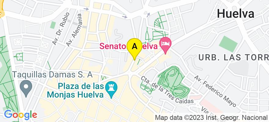 situacion en el mapa de . Direccion: Calle Tres de Agosto 4, 21003 Huelva. Huelva