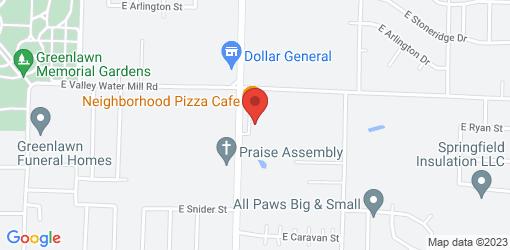Directions to Neighborhood Pizza Cafe