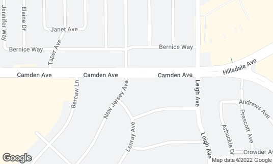 Map of Hookah Castle at 1920 Camden Ave San Jose, CA