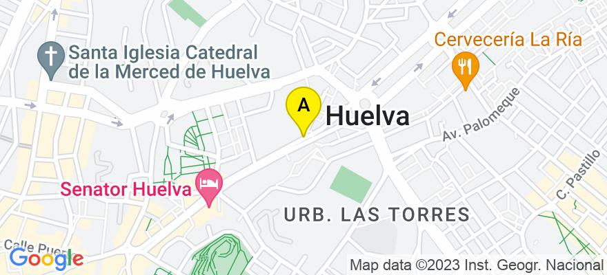 situacion en el mapa de . Direccion: C/ Méndez Núñez Nº9, 21001 Huelva. Huelva