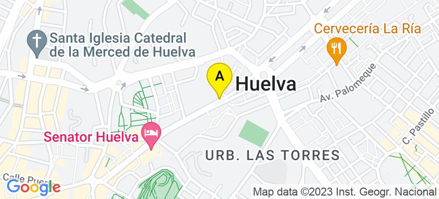 situacion en el mapa de . Direccion: Alameda Sundheim nº 2, Entreplanta Derecha, 21003 Huelva. Huelva