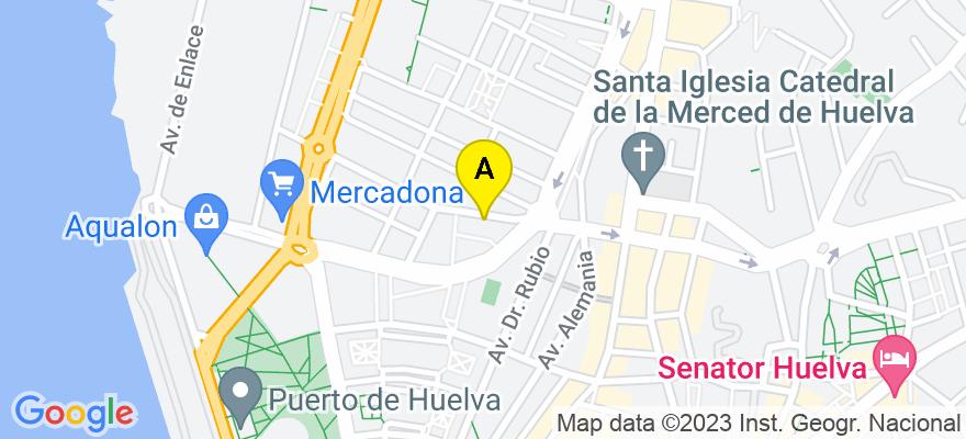 situacion en el mapa de . Direccion: c/ Santiago Apóstol 11, 21002 Huelva. Huelva