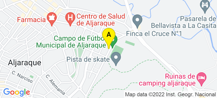 situacion en el mapa de . Direccion: Abubilla 10, 21110 Aljaraque. Huelva