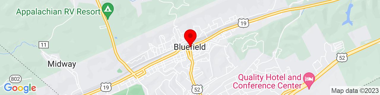 Google Map of 37.26972222222222, -81.22222222222223