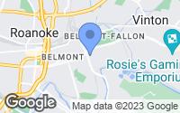 Map of Roanoke, VA