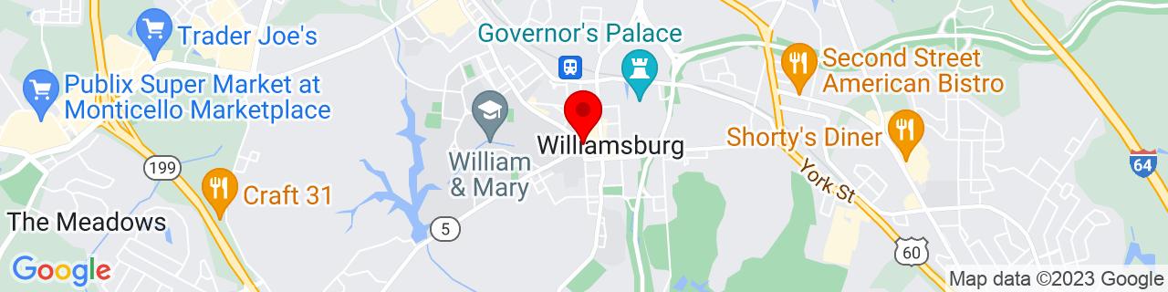 Google Map of 37.2707022, -76.7074571