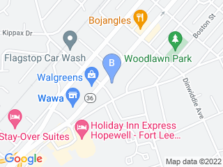 Map of Hopewell Animal Hospital Dog Boarding options in Hopewell | Boarding