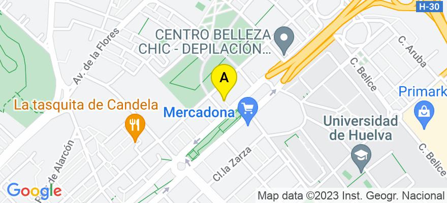 situacion en el mapa de . Direccion: Plaza Cañaveral de León, 21005 Huelva. Huelva