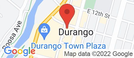 Branch Location Map - Alpine Bank, Durango Branch, 1099 Main Avenue, Durango CO