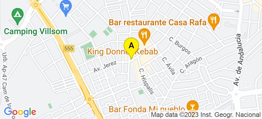 situacion en el mapa de . Direccion: Avenida Reyes Católicos 120, 1º A, 41702 Dos Hermanas. Sevilla